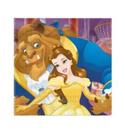 Belle en het Beest servetten 16 stuks