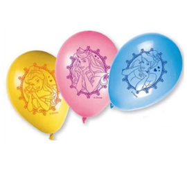 Prinsessen ballonnen 8 stuks