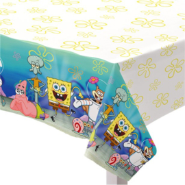 Spongebob tafelkleed plastic 1,3x2,6m