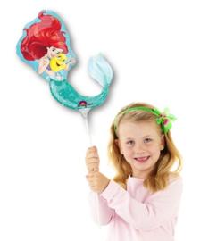 Zeemeermin folieballon op stok 30cm