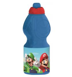 Super Mario waterfles herbruikbaar 400ml