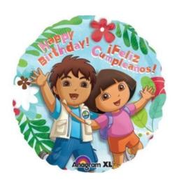 Dora en Diego folie ballon 45cm