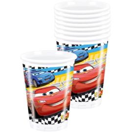 Cars bekers plastic 8 stuks 200ml