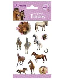 Paard tattoe vel 10x20cm