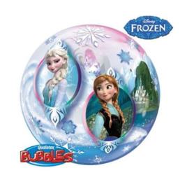 Frozen ballon rond doorzichtig 56cm