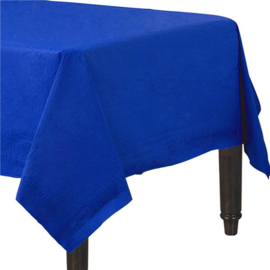 Tafelkleed blauw papier 1,4x2,8m