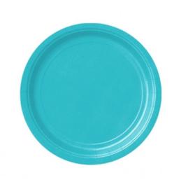 Borden turquoise 18cm 8 stuks