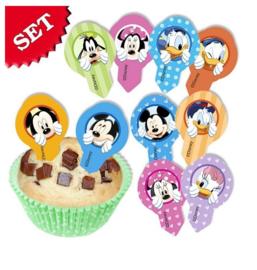 Mickey Mouse prikkers eetbaar 12st