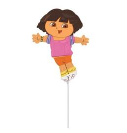 Dora folie ballon op stok