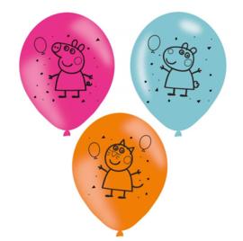 Peppa Pig ballonnen 6 stuks