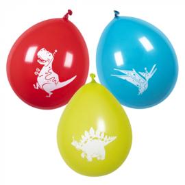 Dinosaurus ballonnen 6 stuks