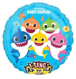 Baby Shark muziek folie ballon 71cm