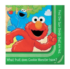 Sesamstraat Elmo servetten 16 stuks 25x25cm