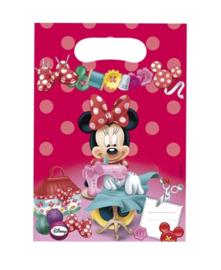 Minnie Mouse uitdeelzakjes plastic 8st