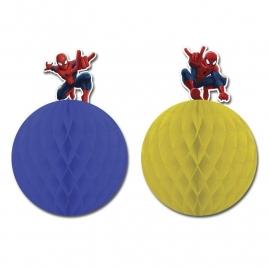 Spiderman honeycomb feestdecoratie