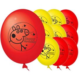 Peppa Pig ballonnen 10 stuks