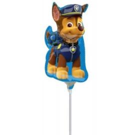 Paw Patrol Chase folie ballon op stok
