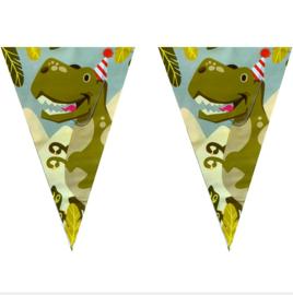 Dinosaurus vlaggenlijn plastic 6m