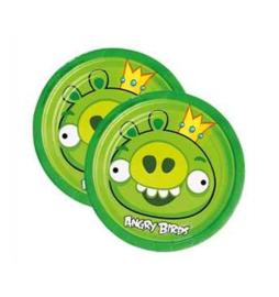 Angry Birds borden groen 8 stuks 18cm