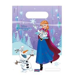 Frozen Snowflakes snoepzakjes 6 stuks