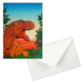 Dinosaurus uitnodigingen 8 st