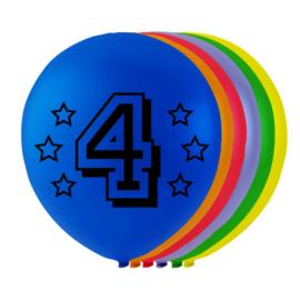 Ballonnen 4 jaar 8 stuks