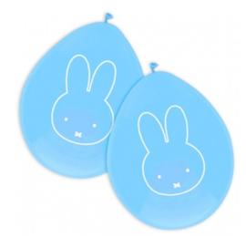 Nijntje ballonnen blauw 6 stuks