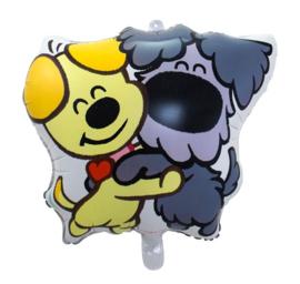 Woezel en Pip folie ballon 55x57cm