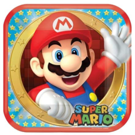 Super Mario borden 6 stuks 22,8cm