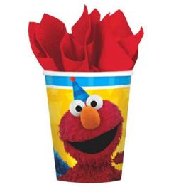 Sesamstraat Elmo bekers 8 stuks