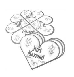 Bruiloft servetten 20 stuks