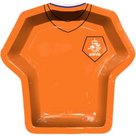Oranje voetbal KNVB borden 8 stuks 24cm