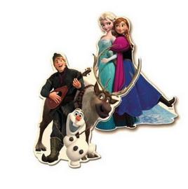 Frozen decoratie karton 2 stuks