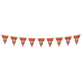 Oranje leeuw vlaggenlijn 10 m plastic