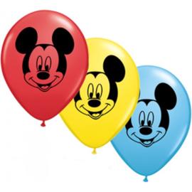 Mickey Mouse ballonnen 5 stuks 13cm