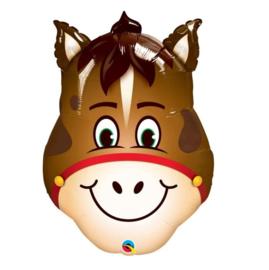 Paard gezicht folie ballon XXL 81cm
