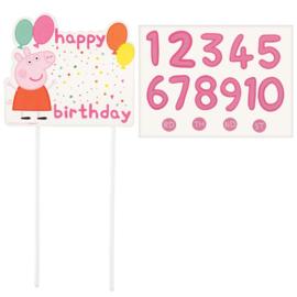 Peppa Pig taart decoratie met leeftijden