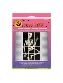 Raamdecoratie Halloween skelet