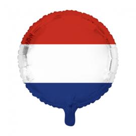 Nederlandse vlag folie ballon 45cm