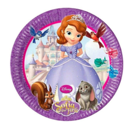 Sofia het prinsesje borden 8 stuks 20cm