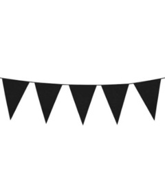 Vlaglijn zwart 10m