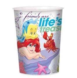 De kleine zeemeermin beker plastic