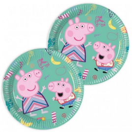 Peppa Pig bordjes 8 stuks 20cm