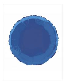 Folie ballon blauw rond