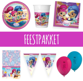 Shimmer and Shine feestpakket 8 personen
