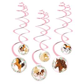 Paarden hangdecoratie 6 stuks