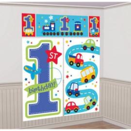 Eerste verjaardag decoratie banner jongen