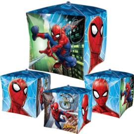 Spiderman folie ballon kubusvormig 38cm