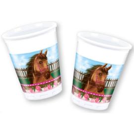 Paarden bekers 8 stuks 200ml