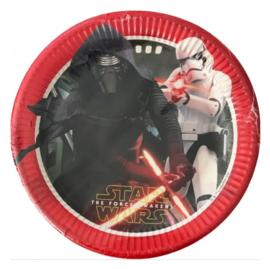 Star Wars borden 8 stuks 23cm